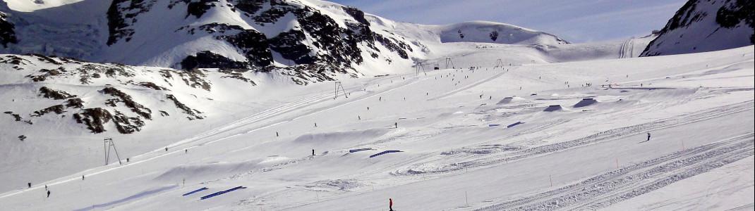 Der Snowpark gehört zu den besten der Alpen.