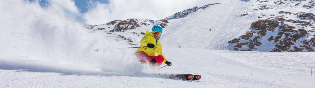 Am Schnalstaler Gletscher erwarten dich schneesichere Pisten bis Mai!