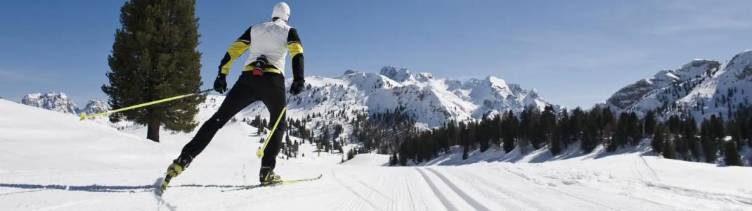 Im Verbund Dolomiti NordicSki stehen dir ganze 200 Loipenkilometer in Süd- und Osttirol zur Verfügung.