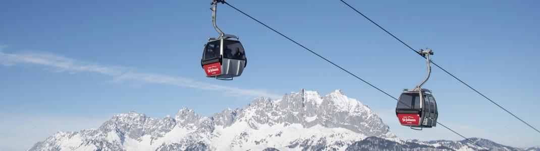 Die Bergbahnen St. Johann liegen in den Kitzbüheler Alpen.