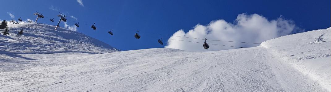 Besonders in steilen Abschnitten ist die Kurzschwung-Technik sehr hilfreich.
