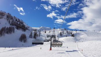 Das Skigebiet Steinplatte - Winklmoosalm bietet mehr als 40 Pistenkilometer.