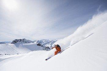Der Stubaier Gletscher bietet insgesamt rund 70 Pistenkilometer.