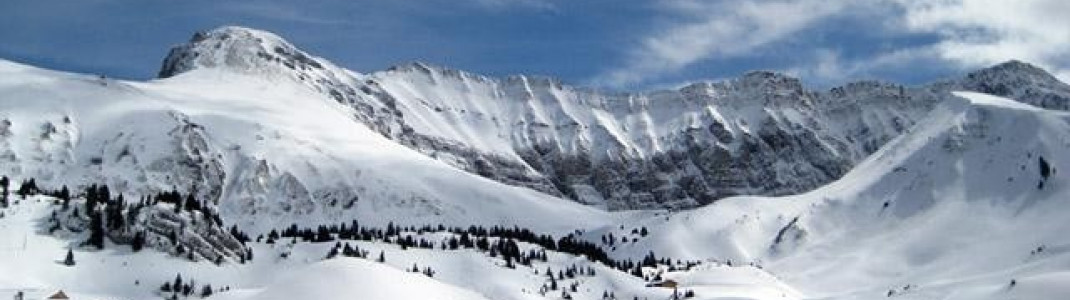 Blick von der Bergstation der Gondel im Teilgebiet Elsigenalp!