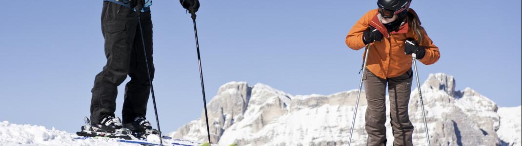 Anfängern stehen in Alta Badia 70 blau markierte Pistenkilometer zur Verfügung.