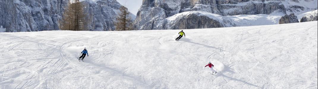 Könner finden in Alta Badia knapp 60 km anspruchsvolle Pisten.