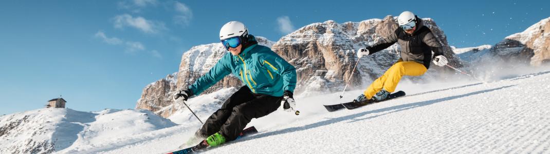 Der Skipass in Alta Badia hat einen stolzen Preis, bietet aber auch unzählige Abfahrtsmöglichkeiten.