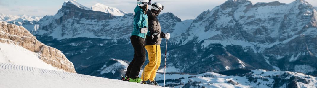 Die Skisaison in Alta Badia geht von Dezember bis April.