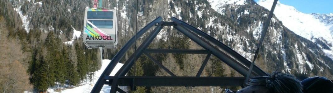 Aussicht auf die Talstation der Ankogelbahn.