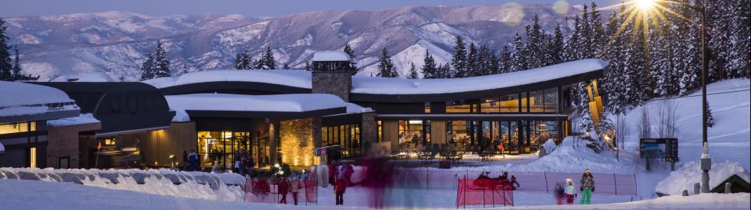 Das Elk Camp Restaurant in Snowmass lädt zum Verweilen ein.