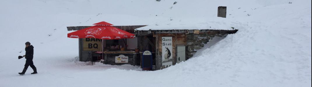 Das Dohlennest ist eine kleine, feine Bar an der blauen Piste Nr. 1