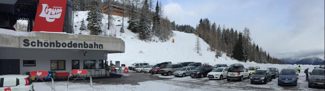 Die Schneedecke im Tal ist bei unserem Besuch Ende Februar nicht so dick wie in den letzten Jahren