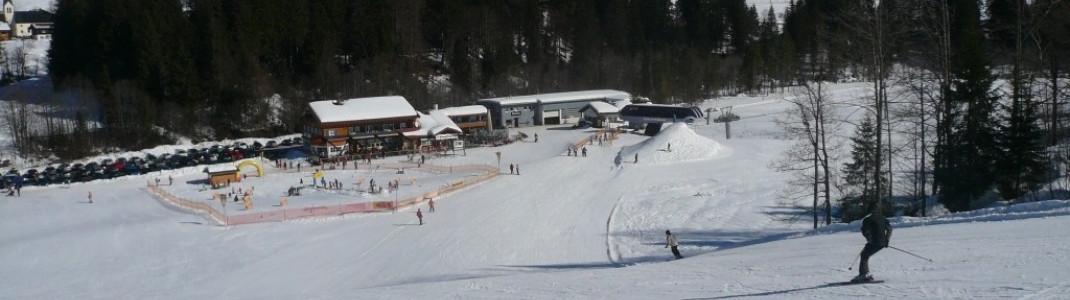 Blick auf die Schelpenalp und die Talstation Schelpenbahn!