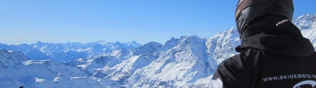 Ausblick von der Bergstation des neuen Sessellifts M!