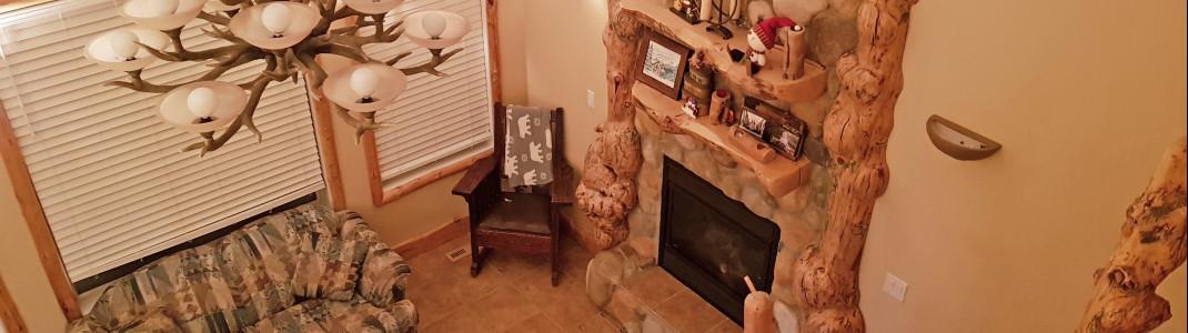 Besonders ist der Aufenthalt in den kleinen Häuschen des Castle Mountain Resort.