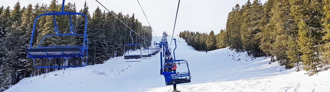 Die Liftanlagen im Skigebiet sind bereits in die Jahre gekommen...