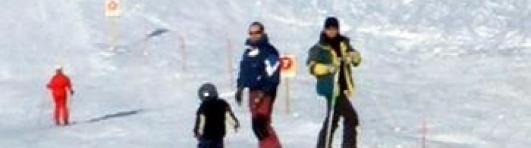 Viele Familien besuchen das Skigebiet !