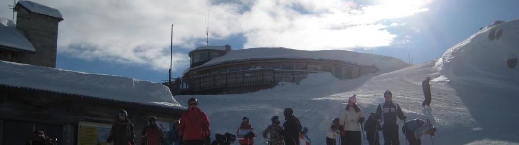 Hütte an der Bergstation der Gondel nach Ra Vallees!