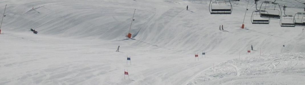 Direkt unterhalb des 2267m hohen Cry d´Er befindet sich eine permanente Slalomstrecke.