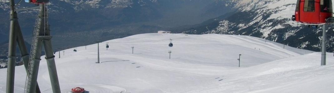 Crans Montana ist wohl eines der am schönsten gelegenen Skigebiete der Alpen