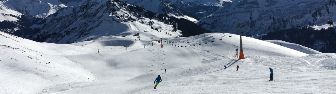 Ein großes Pistenangebot wartet auf die Skifahrer in Damüls-Mellau.