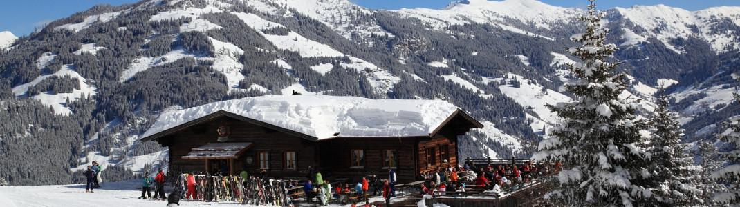 Urige Hütten gibt es im Skigebiet mehrere.