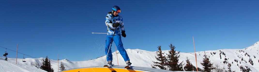 Der Snowpark startet an der Bergstation der Sonnenbergbahn.