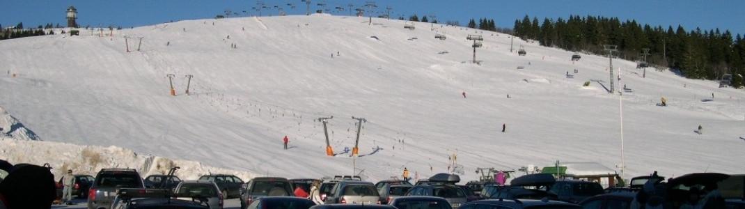 Blick vom großen Parkplatz auf den Seebuck-Berg!