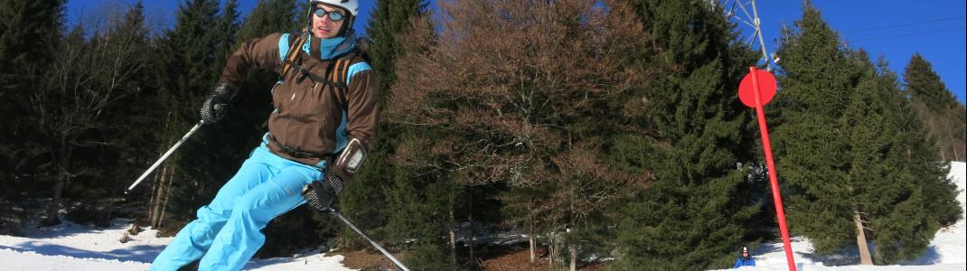 wirklich steile Abhänge kommen im Skigebiet zu kurz