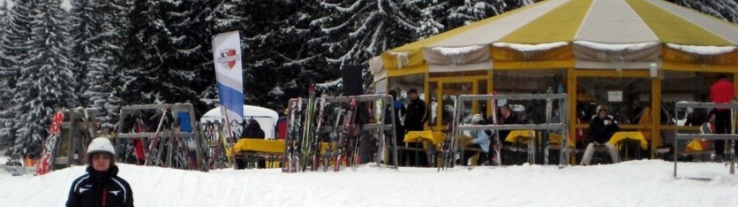 Am Hausberg geht es hoch her. Im Bild: Das Rondell vor dem Garmischer Haus.