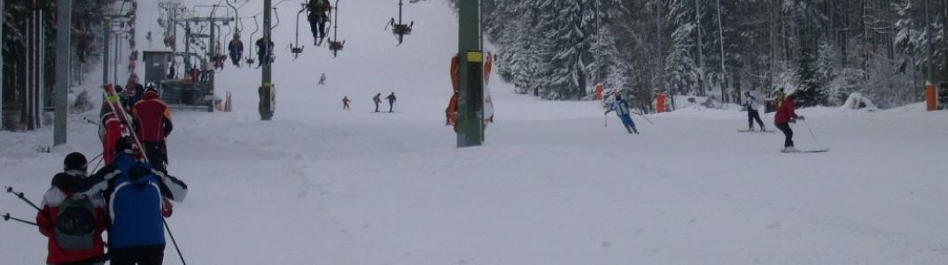 Das Skigebiet zählt fünf Schlepplifte