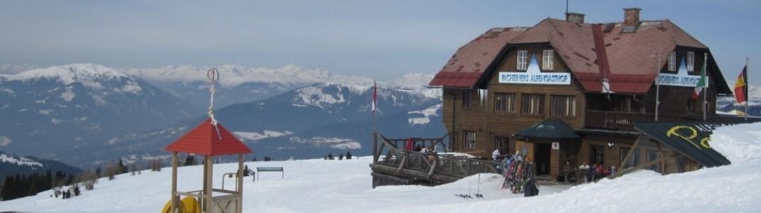 Pacheiners Alpengasthof oberhalb der Pisten Nr. 7 und 24