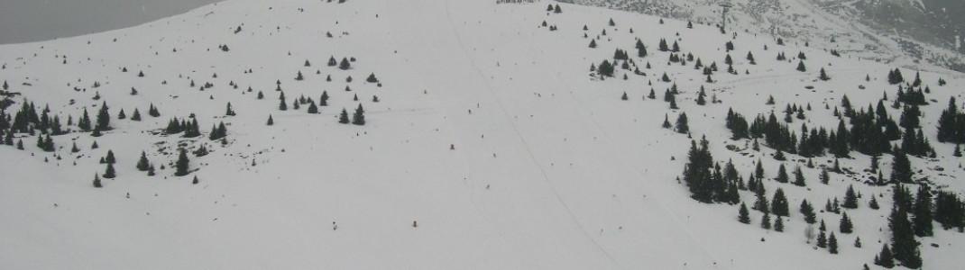 Blick ins Skigebiet Jochtal!