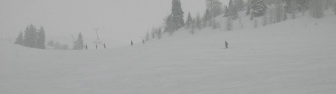 Der schneereichste Monat im Skigebiet Goldeck ist der April.