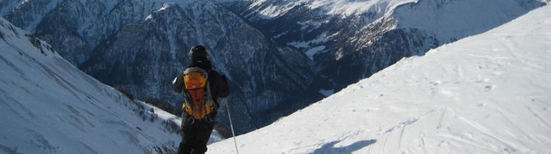 Vier unpräparierte Skirouten für den fortgeschrittenen Skifahrer
