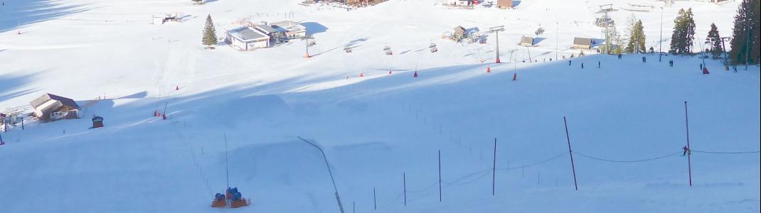 Der Snowpark liegt zentral bei den Hutterer Böden