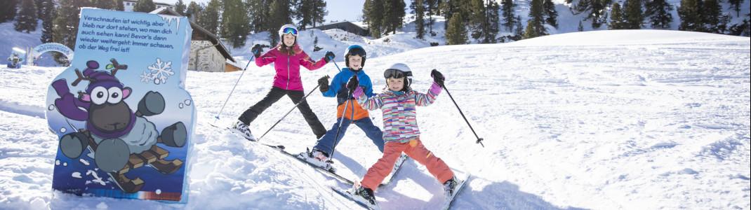 Mit WIDIs Pistentipps lernen die Kids spielerisch die Regeln für die Sicherheit beim Skifahren.
