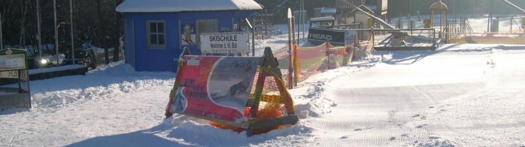 Im Kinderland lernen die jüngsten Wintersportler das Skifahren
