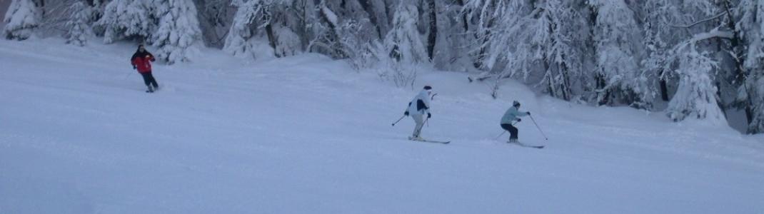 Das Wintersportgebiet in Bayern liegt auf einer Höhe von 657 und 1050 Metern.