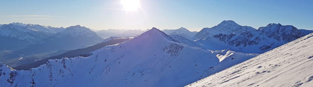 Die durchschnittliche Schneehöhe in Marmot Basin beträgt 114 cm