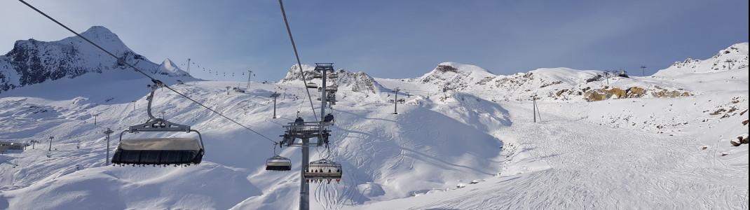 Das Skigebiet reicht bis auf 3.000 Meter