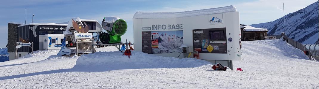 Die Info Base am Alpin Center informiert über die aktuelle Lawinenlage