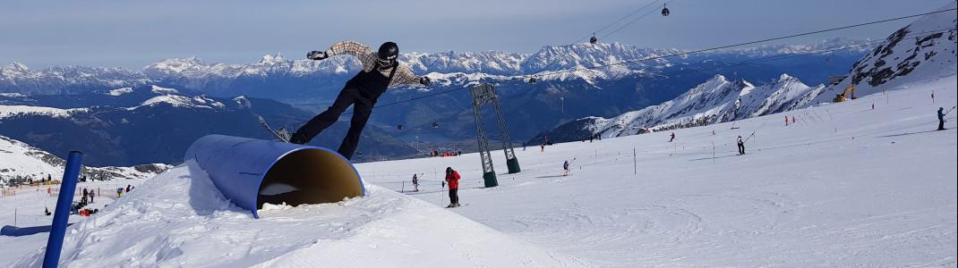Am Kitzsteinhorn gibt es drei Snowparks.