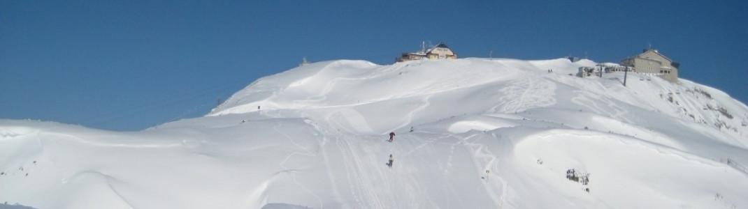 Blick zur Bergstation (2100m)!