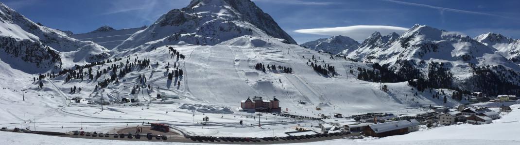 Einzigartiges Panorama und Skifahren auf über 2.000 Meter sind die Hauptargumente des Skigebietes Kühtai
