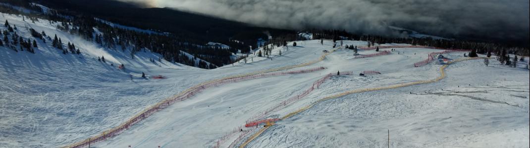 Das Highlight für Renn- und Geschwindigkeitsfreaks ist die FIS Worldcup Strecke Lake Louise