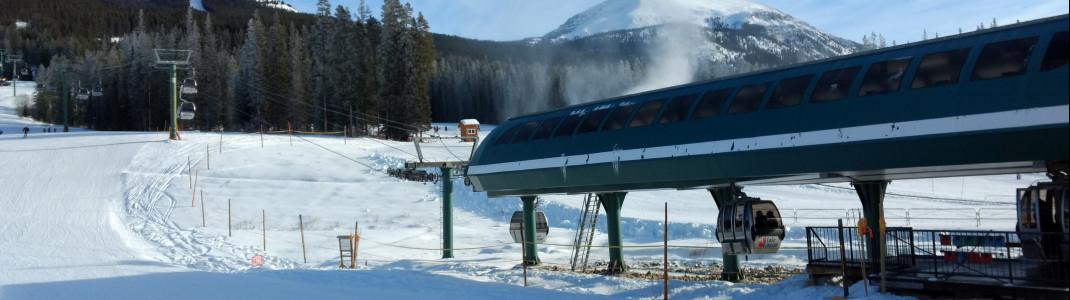 Der Grizzly Express ist die einzige Gondelbahn in Lake Louise