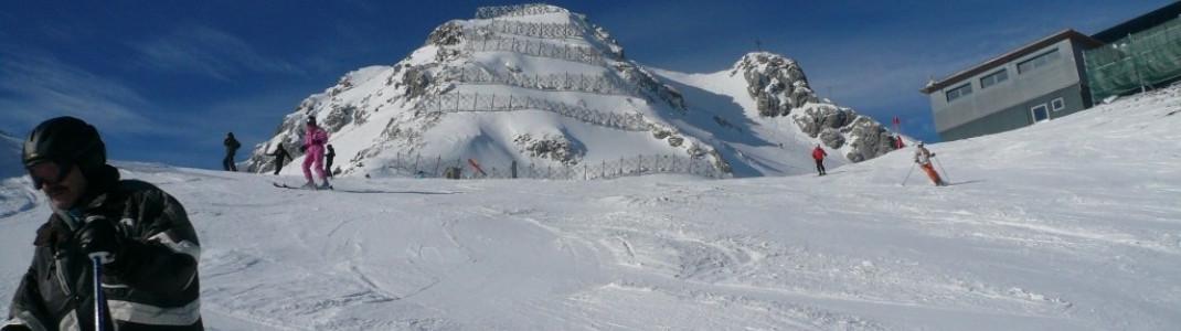 Panorama-Abfahrt(4) mit dem Grubigstein (2255 m) im Hintergrund!
