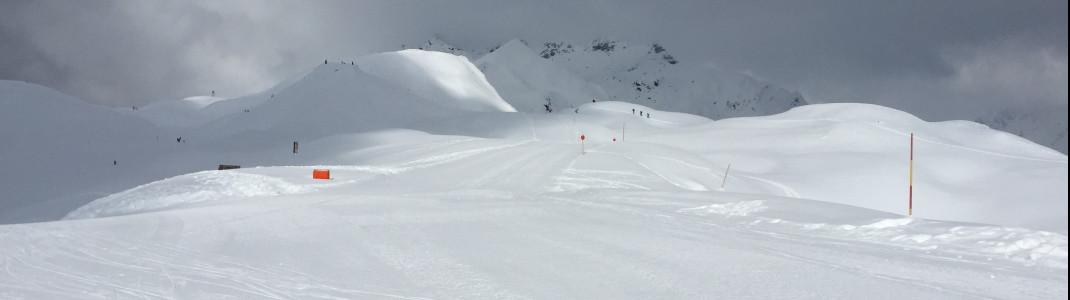 Das baumfreie Gelände im Skigebiet Zettersfeld