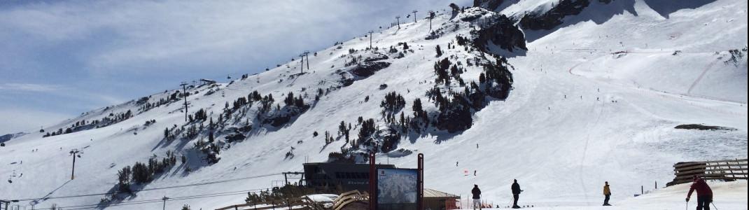 Saison von Dezember bis in den Sommeri: Mammoth ist unter den Skigebieten mit der längsten Saison in Nordamerika.